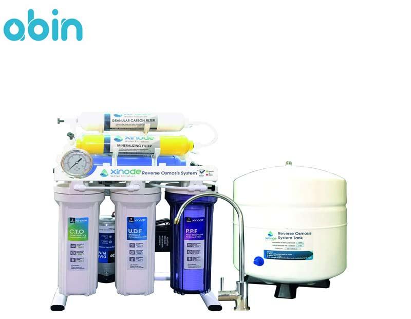 دستگاه تصفیه آب خانگی زینود با فیلتر ممبران 100 گالن