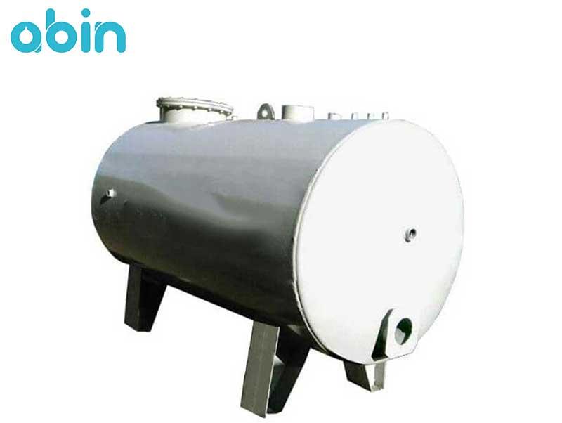 منبع کویل دار آب گرم افقی 1500 لیتری با ضخامت 5 میلی متر رخشاب
