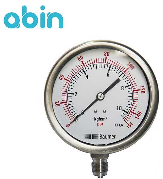 گیج فشار دستگاه تصفیه آب