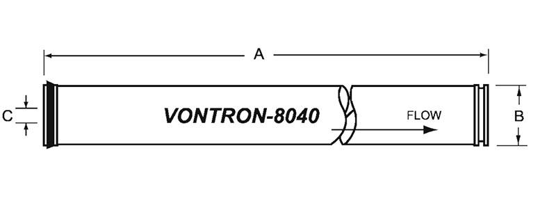 فیلتر ممبران 8 اینچ ونترون مدل ULP22-8040