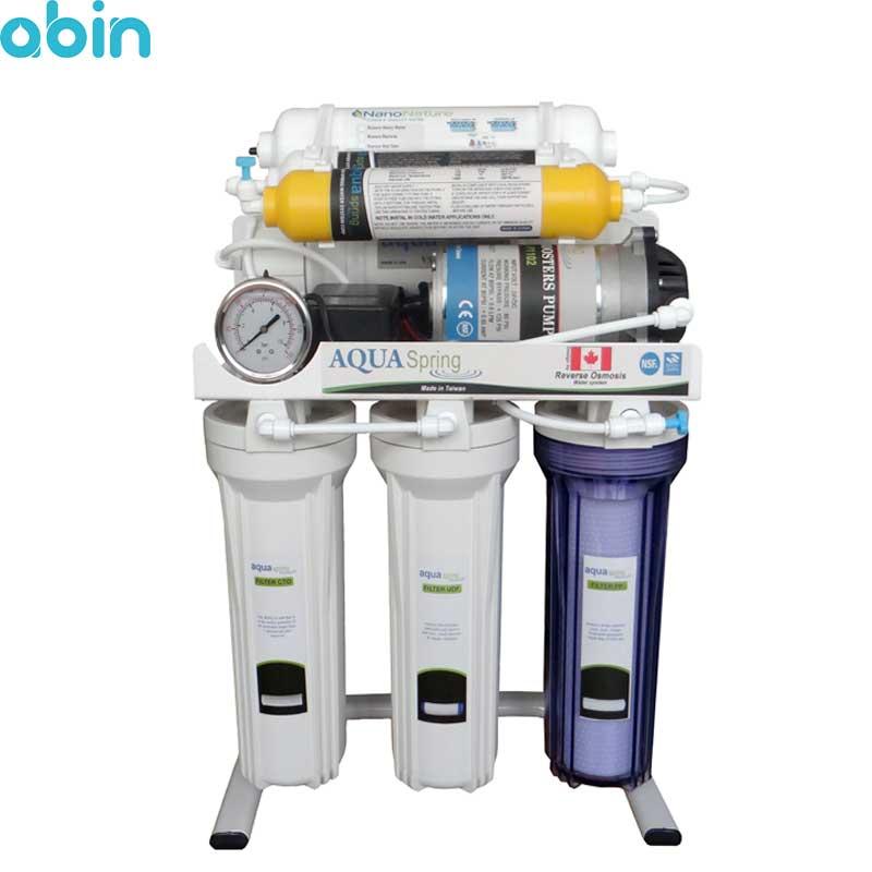 دستگاه تصفیه آب خانگی آکوآ اسپرینگ مدل RO-S7-NATURE1200
