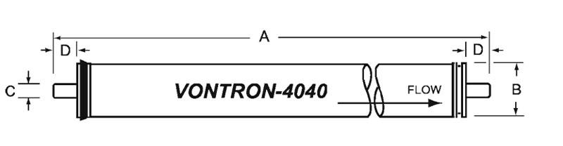 فیلتر ممبران 4 اینچ Vontron مدل ULP11-4040