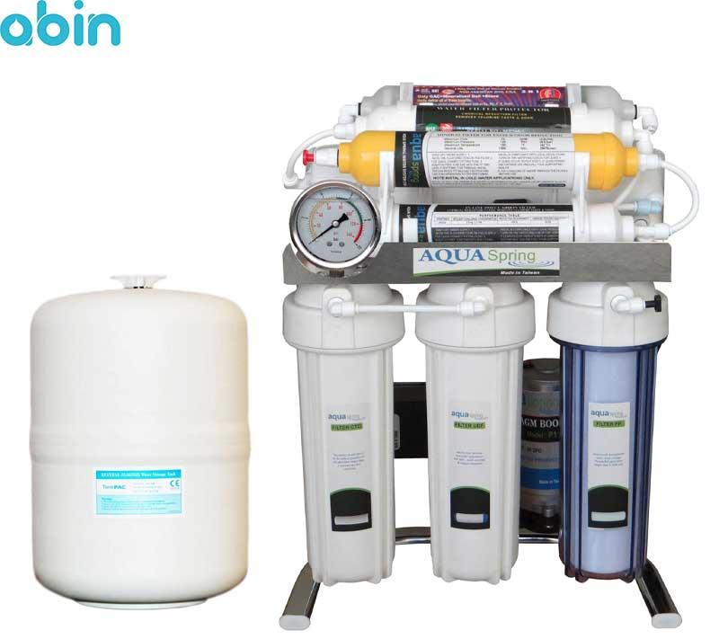 دستگاه تصفیه آب خانگی آکوآ اسپرینگ مدل CHROME-SB9