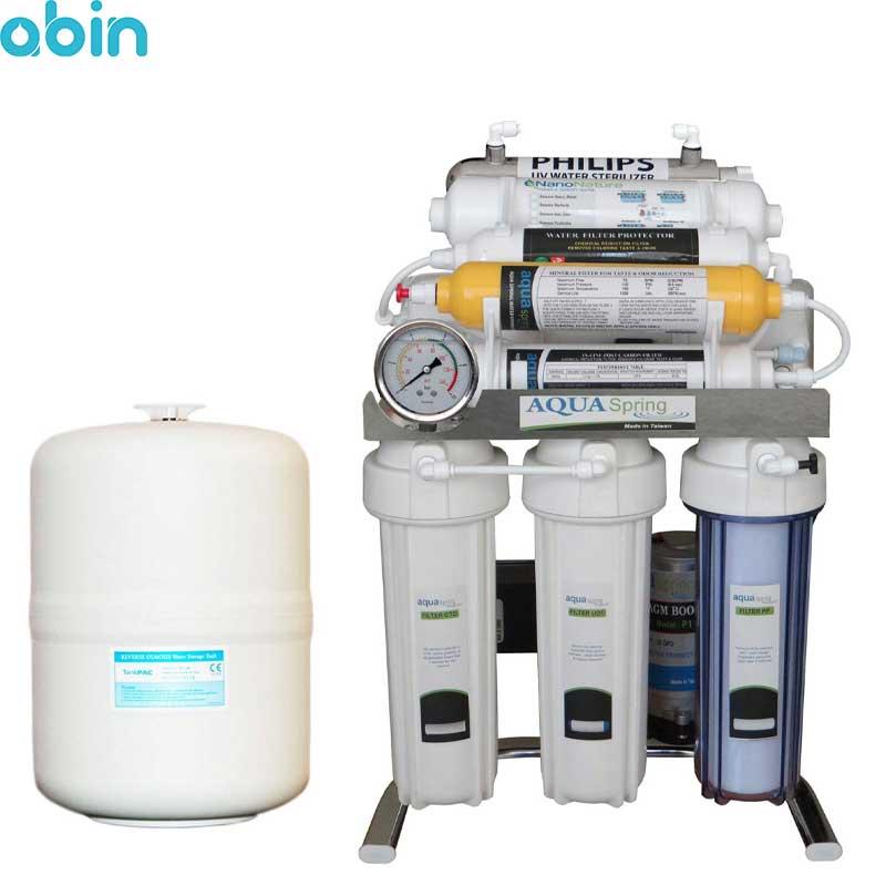 دستگاه تصفیه آب خانگی آکوآ اسپرینگ مدل CHROME-XN9