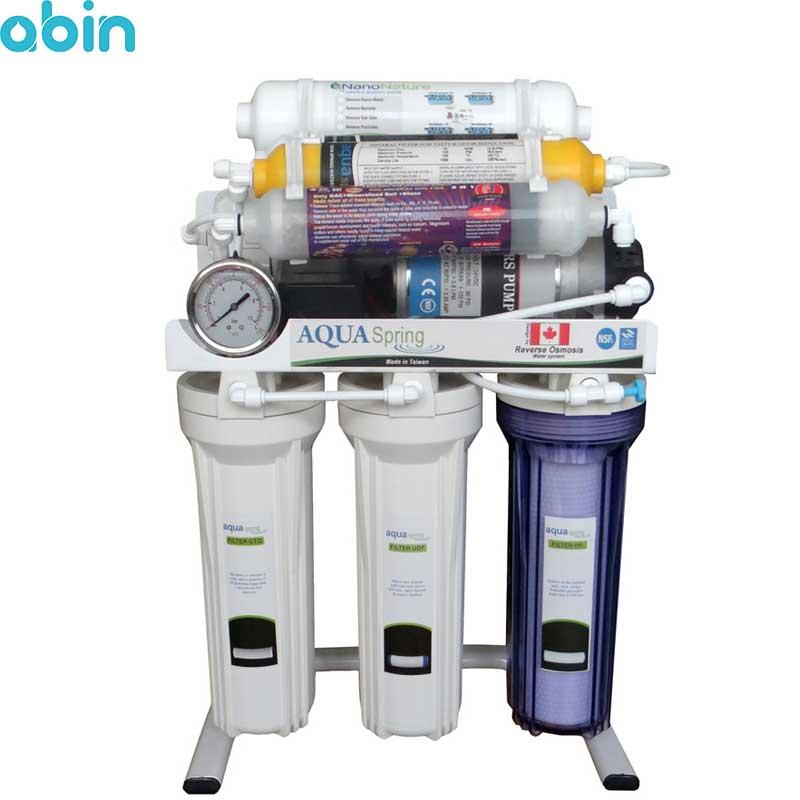 دستگاه تصفیه آب خانگی آکوآ اسپرینگ مدل RO-S8-NATURE1800