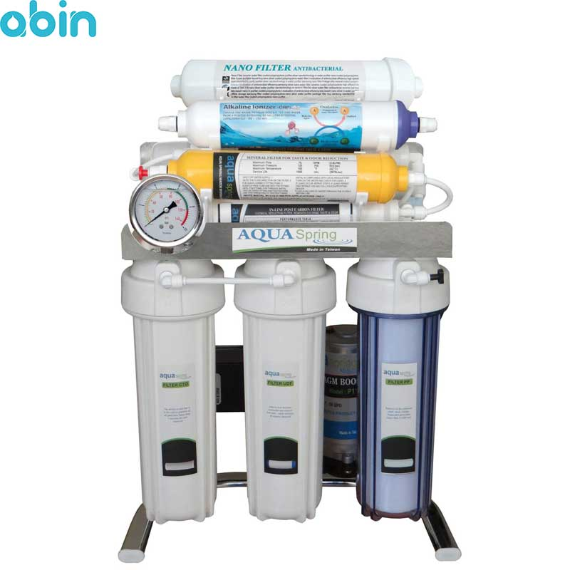 دستگاه تصفیه آب خانگی آکوا اسپرینگ مدل CHROME-AN9